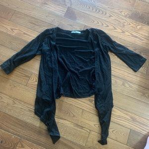(3/$20) only black distressed 3/4 sleeve cardigan